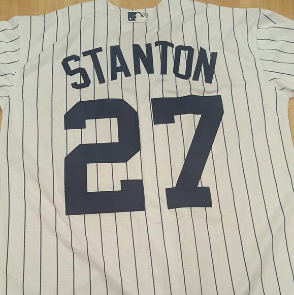 promo code 32429 5a6a3 Giancarlo Stanton Yankees jersey.